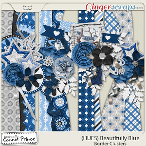 {HUES} Beautifully Blue - Border Clusters
