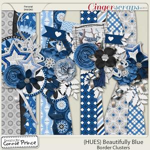 {HUES} Beautifully Blue - Border Clusters