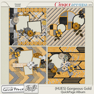 {HUES} Gorgeous Gold - QuickPage Album