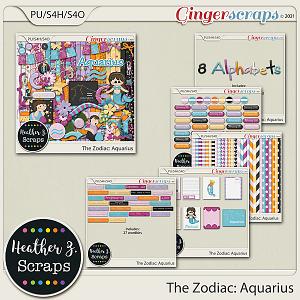 The Zodiac: Aquarius BUNDLE by Heather Z Scraps