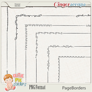Page Borders 51 By Cutie Pie Scraps