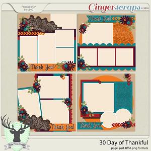 30 Days of Thankful by Dear Friends Designs