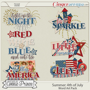 4th Of July - WordArt Pack