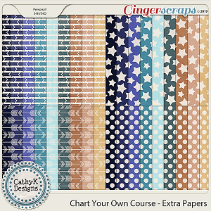 Chart Your Own Course - Extra Papers by CathyK Designs
