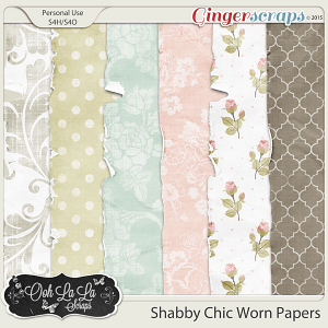 Shabby Chic Worn Papers