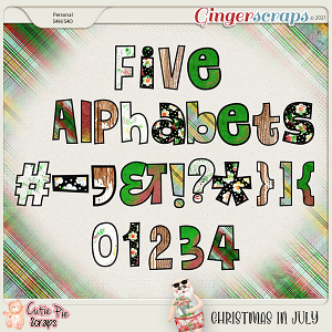 Christmas In July Alphabets