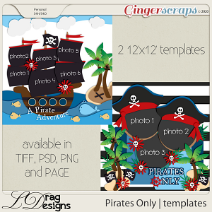 Pirates Only: Templates by LDragDesigns