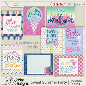 Sweet Summer Party: Journal Cards by LDragDesigns