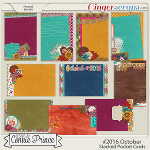 #2016 October - Stacked Pocket Cards