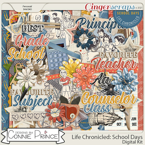 Life Chronicled: School Days - Kit by Connie Prince