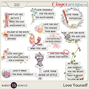 Love Yourself Words and Graphics by Karen Schulz