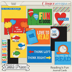 Reading Is Fun - Journal Cards