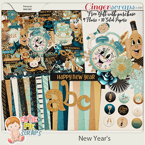 New Year's Page Kit