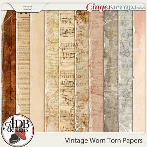 Heritage Resource Vintage Worn and Torn Papers by ADB Designs