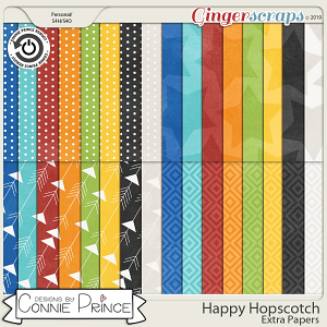 Happy Hopscotch - Extra Papers by Connie Prince