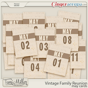 Vintage Family Reunion Cards by Tami Miller Designs