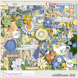 Wildflower Digital Scrapbooking Kit by Shepherd Studio