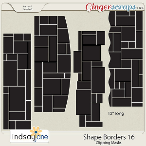 Shape Borders 16 by Lindsay Jane