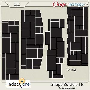 Shape Borders 16 by Lindsay Jane