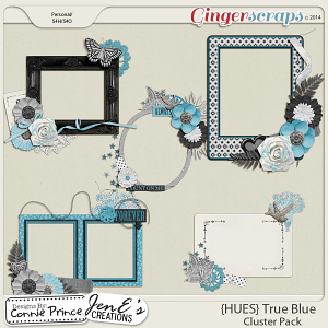 {HUES} True Blue - Cluster Pack