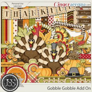 Gobble Gobble Add On Digital Scrapbooking Kit