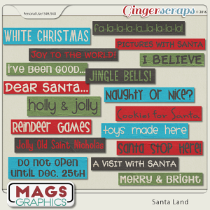 Santa Land Word Tags by MagsGraphics