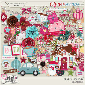Family Holiday - Elements- By Neia Scraps