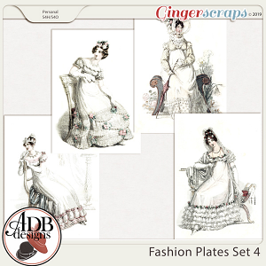 Heritage Resource - Fashion Plates Set 4 by ADB Designs