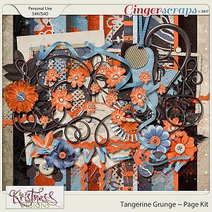 Tangerine Grunge Page Kit