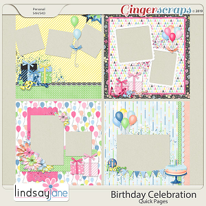 Birthday Celebration Quick Pages by Lindsay Jane