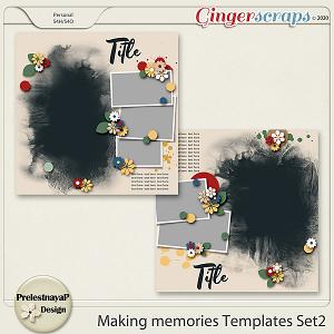 Making memories Templates Set2