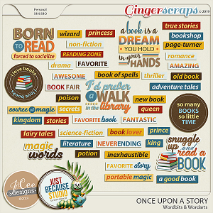 Once Upon A Story Wordbits and Wordarts by JoCee Designs and Just Because Studio