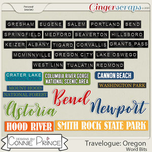 Travelogue Oregon - Word Bits by Connie Prince