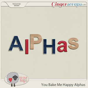 You Bake Me Happy Alphas by Luv Ewe Designs