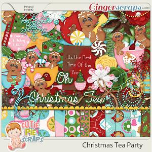 Christmas Tea Party Page Kit