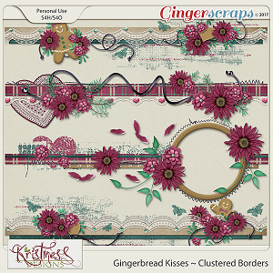 Gingerbread Kisses Clustered Borders