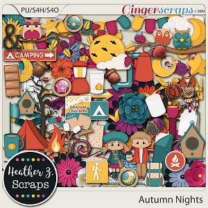 Autumn Nights ELEMENTS by Heather Z Scraps