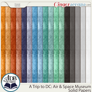 A Trip to DC - Air & Space Museum Solid Papers by ADB Designs