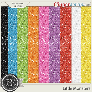 Little Monsters 12x12 Glitter Papers