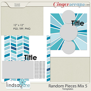 Random Pieces Mix 5 Templates by Lindsay Jane