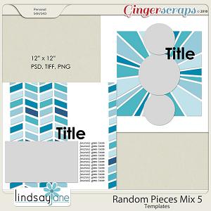 Random Pieces Mix 5 Templates by Lindsay Jane