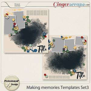 Making memories Templates Set3