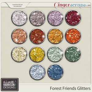Forest Friends Glitters by Aimee Harrison