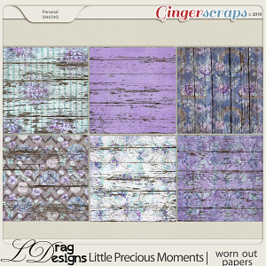 Little Precious Moments: Worn Out Papers by LDragDesigns