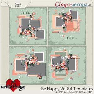 Be Happy vol2 4 Templates by CarolW Designs