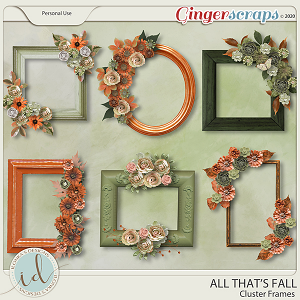 All That's Falll Cluster Frames by Ilonka's Designs