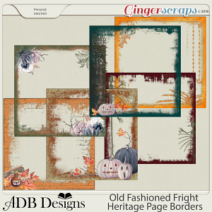 Old Fashioned Fright Heritage Page Borders by ADB Designs