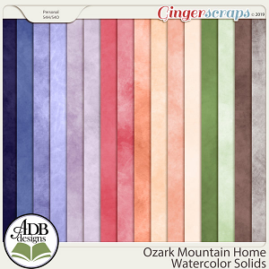 Ozark Mountain Home Watercolor Solids by ADB Designs