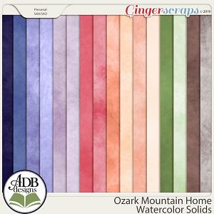 Ozark Mountain Home Watercolor Solids by ADB Designs