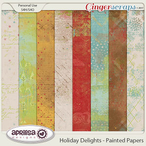 Holiday Delights - Painted Papers by Aprilisa Designs